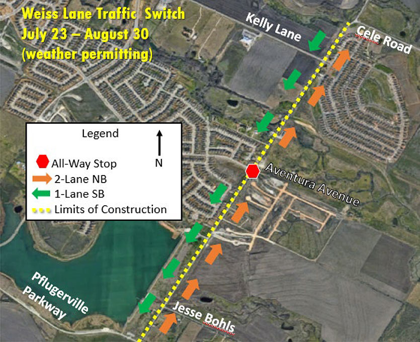 Weiss Lane Traffic Switch Planned 7-23